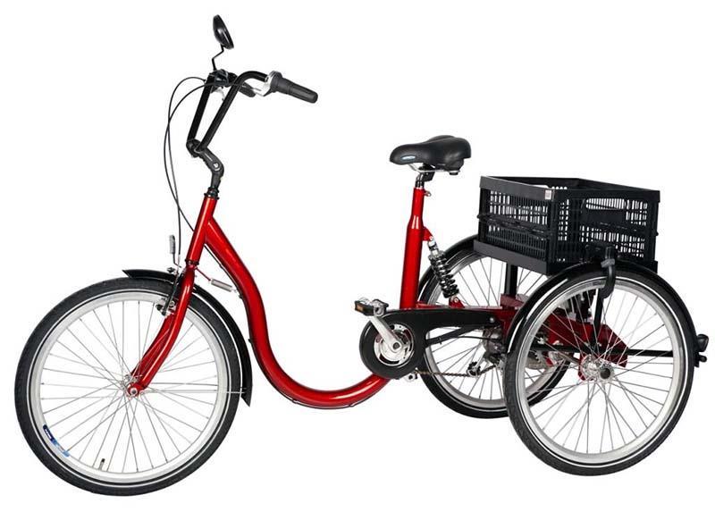 Трёхколесный велосипед с низкой рамой для взрослых