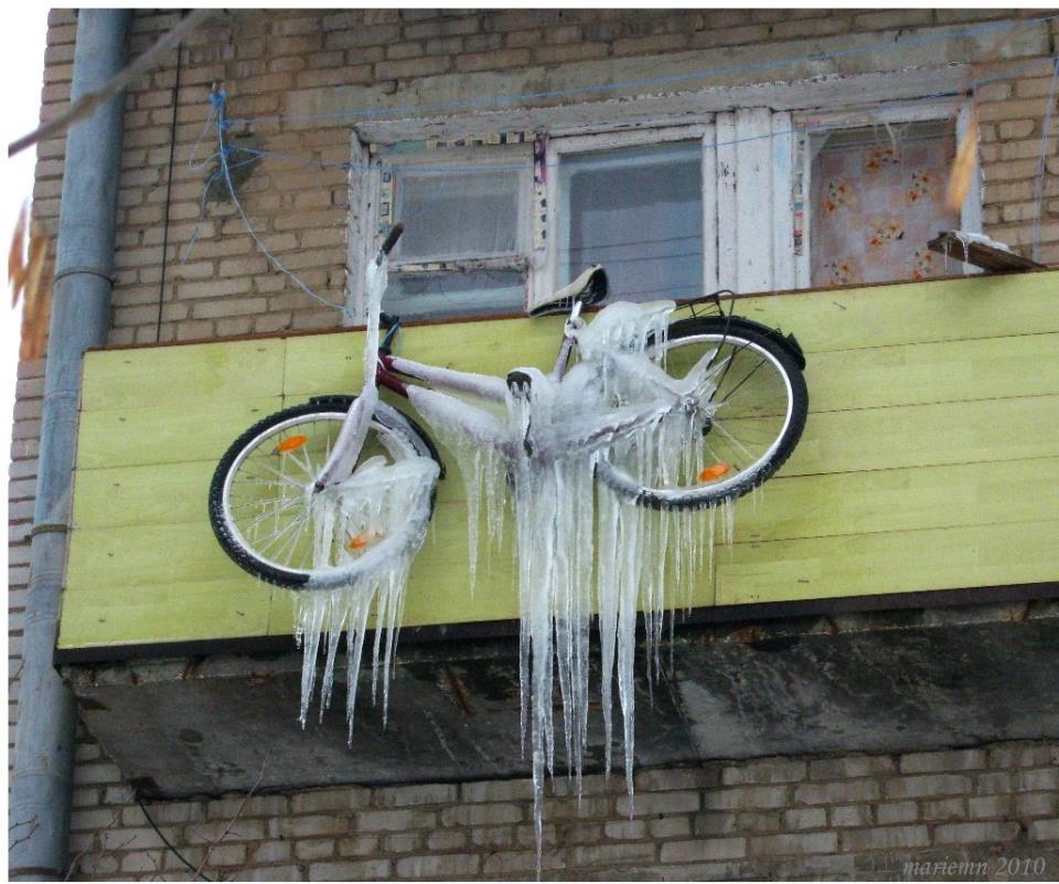 Хранение велосипеда на незастекленном балконе