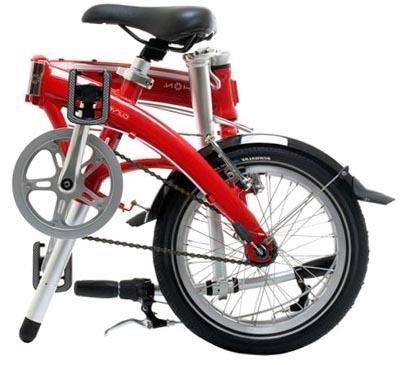 Велосипед Dahon Curve D3 в сложенном состоянии