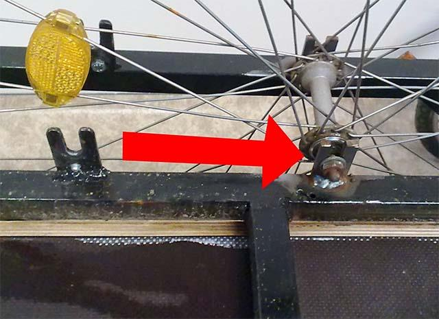 Установка колёс на самодельный грузовой велосипед