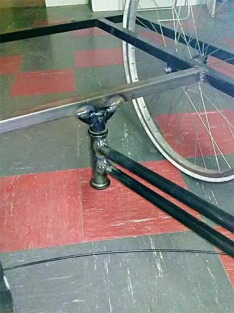Изготовление рамы для трёхколёсного велосипеда