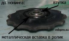 Подающий ролик заднего переключателя до тюнинга