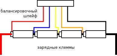 распайка балансировочного шлейфа для конфигурации 4S — 4 последовательно соединенных элемента