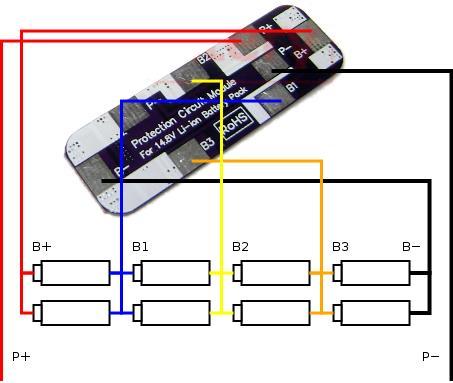 схема подключения защитной платы для li-ion-батареи