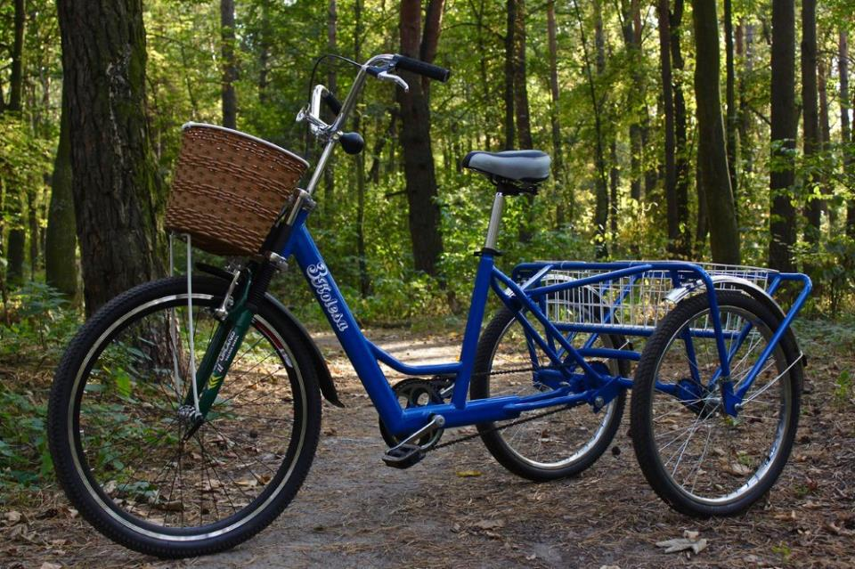 Трехколесный велосипед с дифференциалом