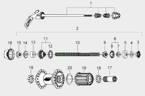 Устройство задний втулки велосипеда