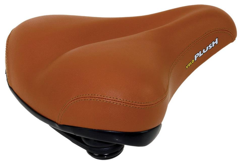 Седло велосипеда из кожзама