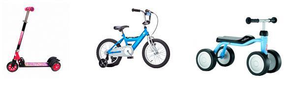 Самокаты, велосипеды, беговелы. Что лучше выбрать для ребенка.