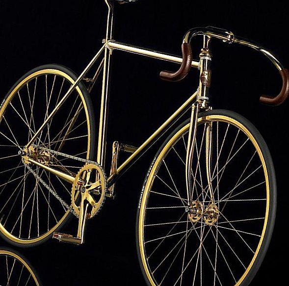 Золотой велосипед, выпущенный компанией Auramania