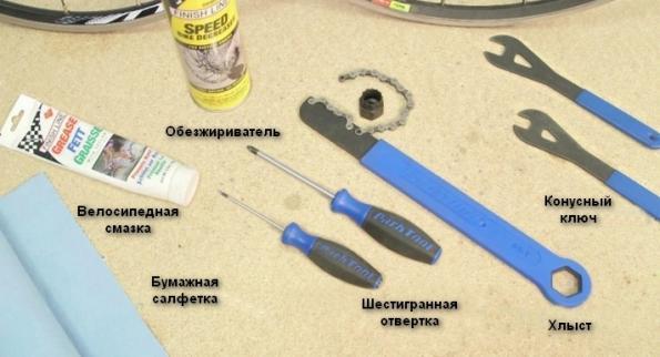 инструменты для ухода за втулкой для велосипеда