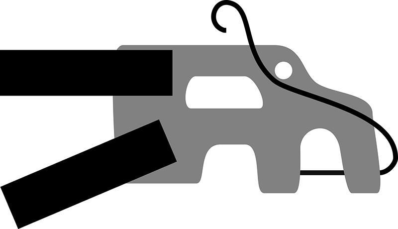 Схема крепления для самодельного прицепа для велосипеда