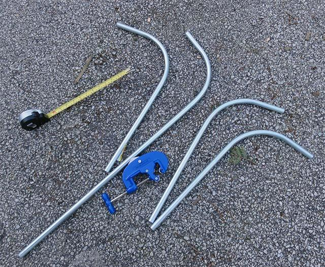 Трубы для рамы вилки велосипедного прицепа