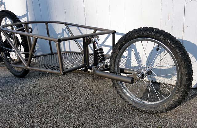 Коляска прицеп для велосипеда своими руками