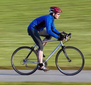 Правильная посадка велосипедиста