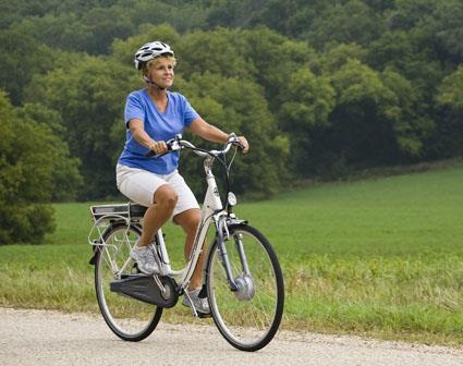Высокая посадка (вертикальная) на городском велосипеде