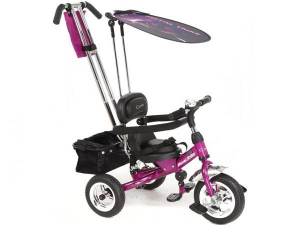 Велосипед трехколесны розовый