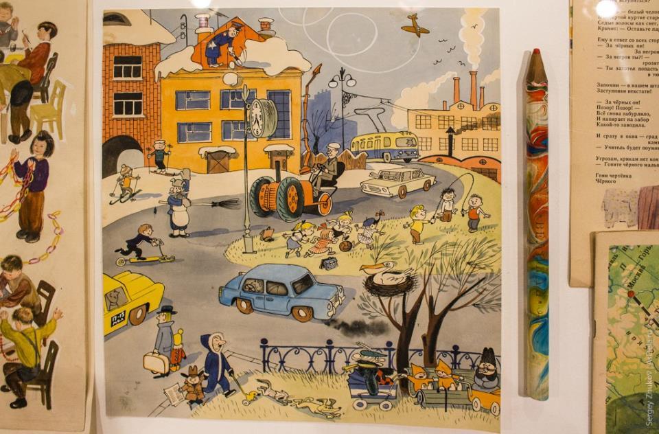 Обожал в детстве разглядывать хорошие картинки, наполненные деталями.
