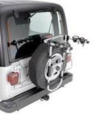 Багажник для велосипеда с креплением к запасному колесу