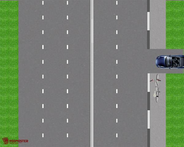 ДТП с велосипедистом на тротуаре