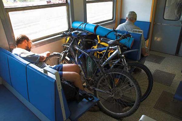 Провоз велосипеда в электричке