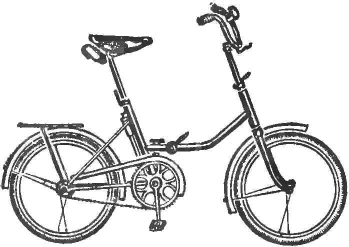 Рис. 2. Складной велосипед «Десна».