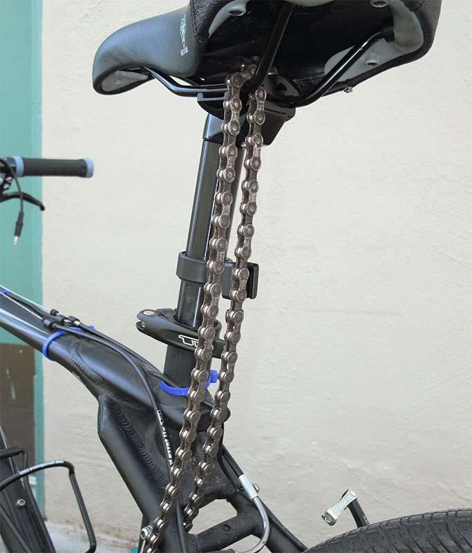 Замок для велосипеда из цепи