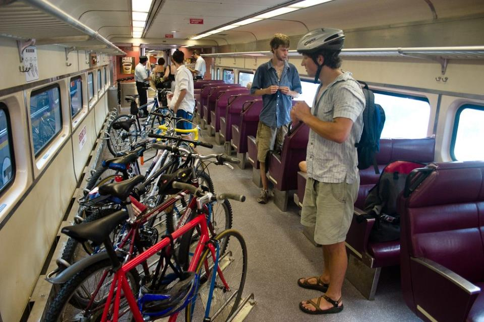 Велосипеды в вагоне