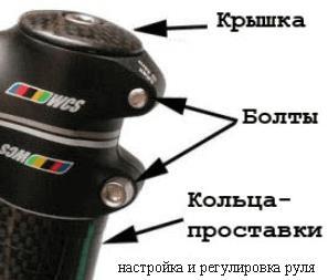 болты регулировки руля велосипеда