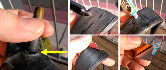 Ремонтируем прокол камеры велосипеда