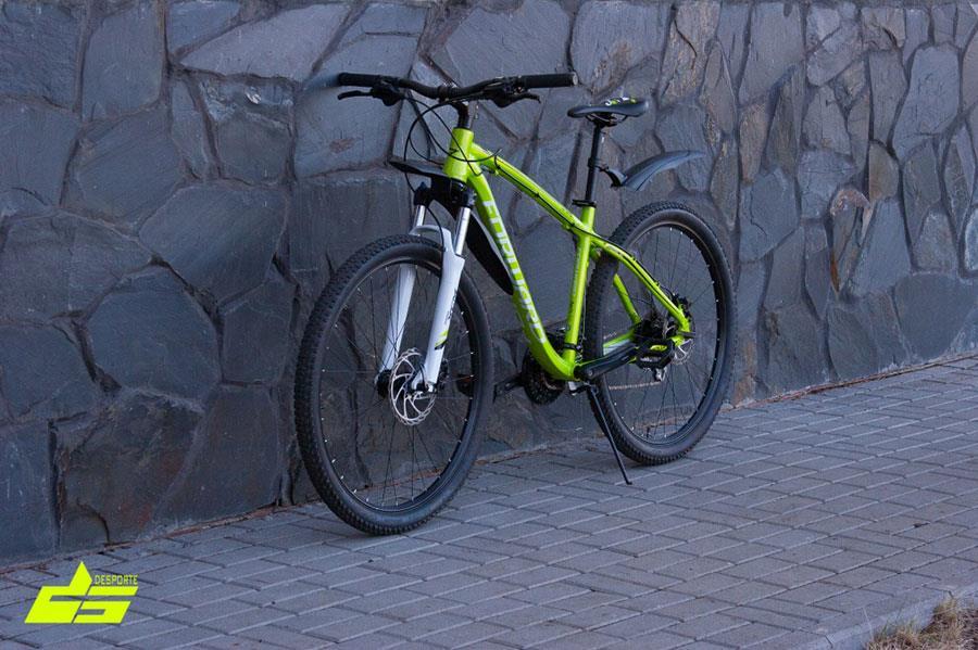 Ярко-зеленый матовый велосипед Forward Agris 3.0