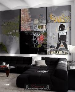 14 Граффити в интерьере, граффити на стене дома, граффити на стене в квартире