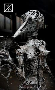 21 Настя, авторская скульптура из металла