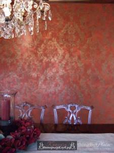 4 Декоративная штукатурка с дамаском, дамаск в интерьере, дамаск на стене в гостиной