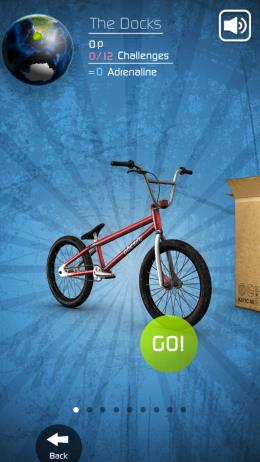 Touchgrind BMX - выбор среди множества велосипедов