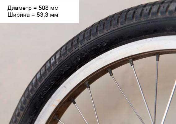 диаметр колеса