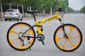 Велосипед на литых дисках Land Rover Yellоw