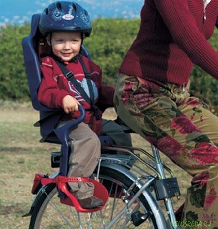 Заднее детское велокресло