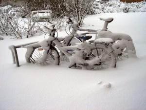 Ходовая часть велосипеда в холодное время