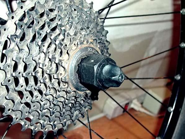 Кассета на велосипеде