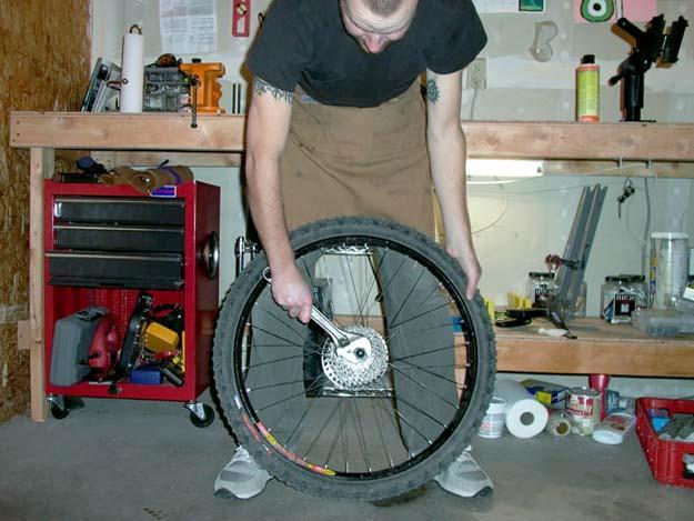 Установка кассеты на велосипед
