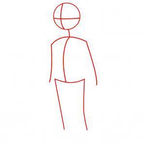 Шаг 1. Как нарисовать девочку карандашом