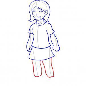 Шаг 9. Как нарисовать девочку карандашом