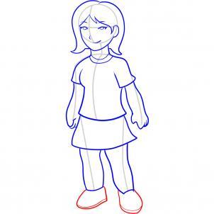 Шаг 10. Как нарисовать девочку карандашом