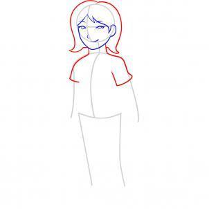 Шаг 5. Как нарисовать девочку карандашом