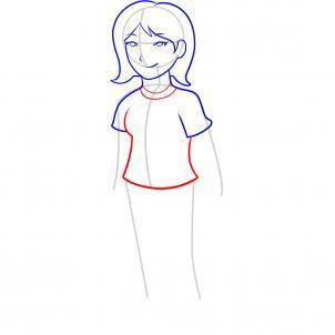 Шаг 6. Как нарисовать девочку карандашом
