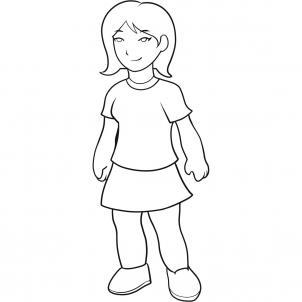 Шаг 11. Как нарисовать девочку карандашом