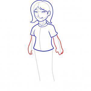 Шаг 7. Как нарисовать девочку карандашом