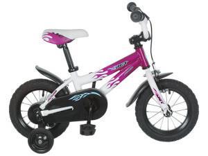 детский двухколесный велосипед author jet с дополнительными колесами