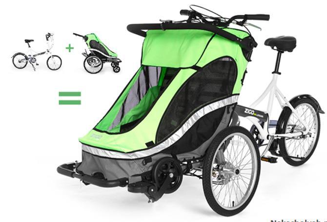 коляска велосипед для мамы Zigo