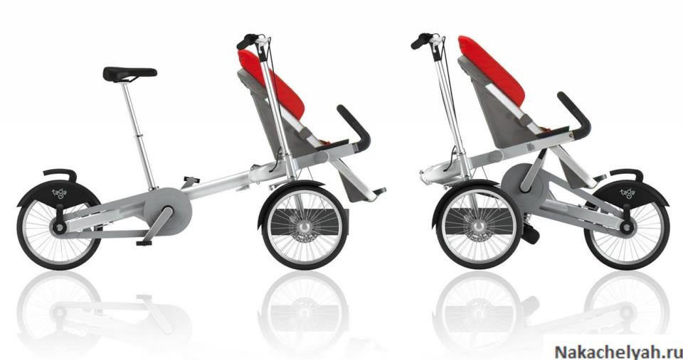 коляска велосипед для двойни и велоколяска для мамы и ребенка
